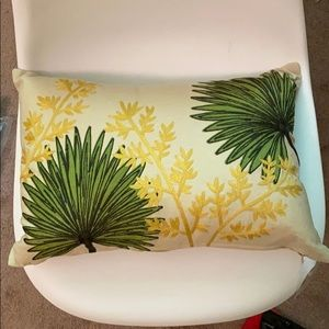 Other - NWT Embroidered fan plant pillow